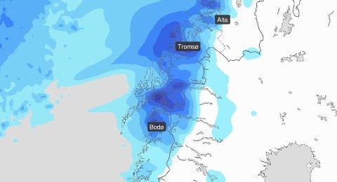 Klar melding: - Det blir regntungt, men enkelte områder er skjermet, sier meteorolog Jon Austerheim om påskeværet i Salten.