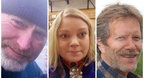 Stig Morten Kristensen (t.v.), Astri Dankertsen og Svein Olsen fra Rødt ønsker en offensiv samisk satsning i Buvvda/Bådåddjo/Bodø
