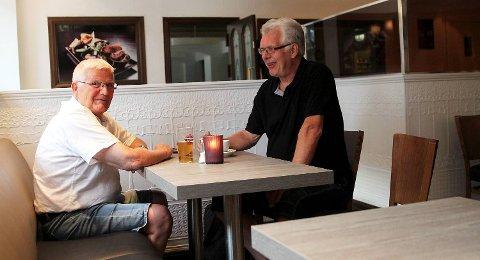 Hans Petter Kristiansen og Kristian Tjøntveit er begge pasienter hos Susanne Johansson.