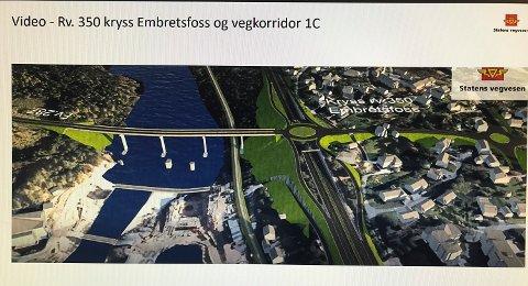 EMBRETSFOSS: Veivesenet anbefaler å lage avkjøring ved Embretsfoss, men politikerne ber veivesenet ta tidlig kontakt med grunneiere som kan bli berørt av planene.