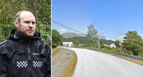KOM ETTER VARSEL: I denne 60-sona på fv. 609 i Holmedal har det kome varslar om høg fart. Det fekk Lars Kristian Reknes og UP stadfesta tysdag.