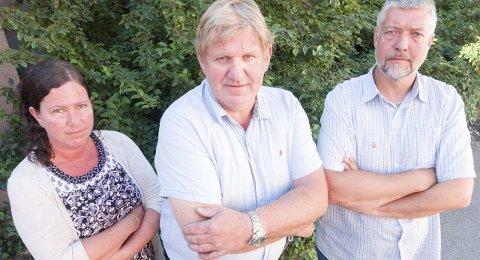 Elisabeth Wedø, Trond Millerjord og Boy Arne Buyle. Arkivfoto: Terje Næsje