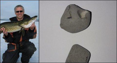 Erland Hauklien ferdes mye på Mjøsa hele året. Nå har han oppdaget glasopor i Mjøsa.