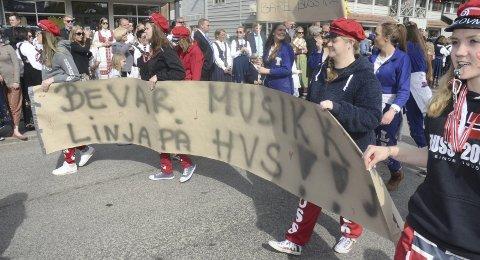 Russetoget 17. mai 2016. Liten tvil om at musikklinja på HVS er sterkt ønsket.