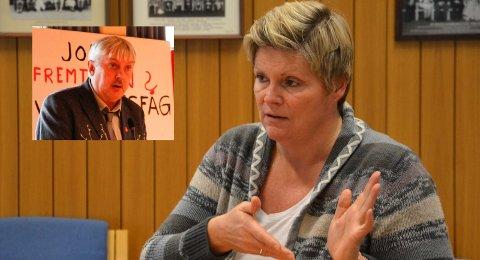 ANSIENNITET: Hovedtillitsvalgt Bjørn Andreassen (innfelt) krever at ansiennitet må veie tyngst, mens kommunalsjef Cecilie P. Øyen mener hun er avhengig av å ha høy kompetanse igjen etter oppsigelser.