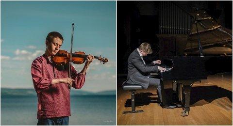 KONSERT: Sigve Lieberg Stieng og Herman Lieberg Christoffersen spiller konsert i Tingelstad kirke.