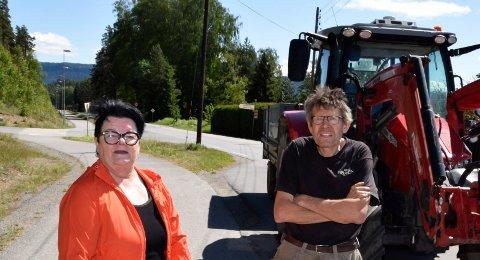 DOBBELT: Varaordfører Anita Haugland Gomnæs (Sp) mener at traktorforbudet på gjenvinningsstasjonen er dobbelt problematisk miljømessig. Per Hafnor har fått reaksjoner fra medlemmer i Hole landbrukslag.