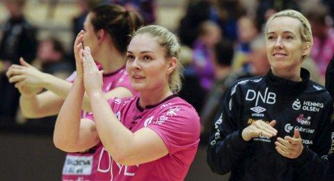 Sluttspillmester: Pernille Wang Skaug og Vipers kunne, etter seriemesterskapet og seier i cupfinalen, innkassere sin tredje tittel da de slo Larvik klart i sluttspillfinalen.