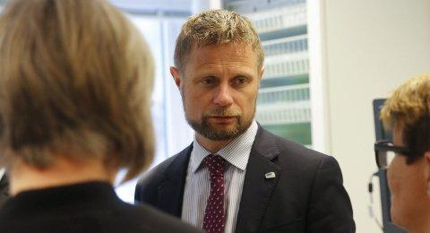 Besøkte sjukehuset: Helseminister Bent Høie på besøk på Odda sjukehus i 2017. arkivfoto: Eivind dahle sjåstad