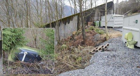 Askane: I tillegg til dumping av badekar er det også flere avskiltede biler i området. - Dårlige holdninger, sier teknisk sjef Anton Langeland.  Alle foto: Ernst Olsen
