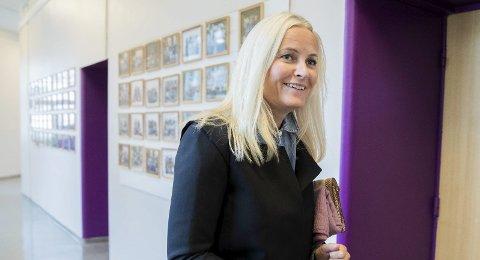 Har ikke anledning: Kronprinssese Mette-Marit under et besøk i Kristiansund denne uka. Kronrpinsessa har dessverre ikke anledning til å være til stede i Odda, men ønsker lykke til med årets arrangment, melder hoffet. Foto: Berit Roald / NTB