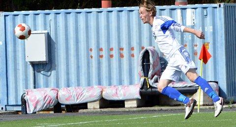 Sondre Fagerli header inn 1-0 til Raumnes & Årnes.