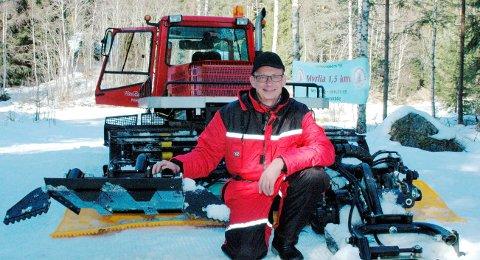 Stor innsats: Knut Katralen har gjort en stor innsats som løypekjører i mange år.