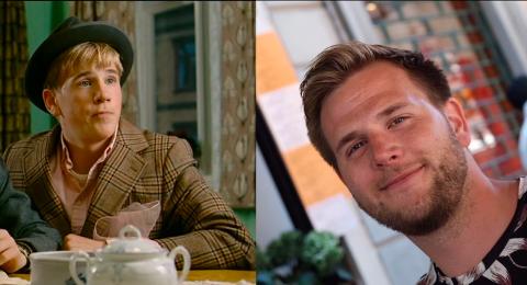 14 ÅR MELLOM: Ole Martin Wølner forteller at han er blitt mørkere i stemmen og fått mer skjegg siden sist han spilte rollen som Benny Fransen.