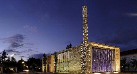NOE SLIKT?: Ullensaker muslimske senter inspireres blant annet av arkitekturen på denne moskeen i Tyskland.
