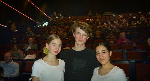 Fra venstre: Selma Høicold, Andreas Fadum og Nika Rud.