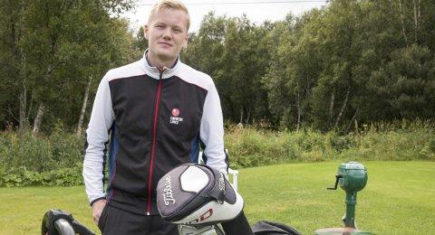 Nordnorsk mester: Lars Magnussen spilte knallbra på dag tre av NNM og sikret seg tittelen nordnorsk mester.FotO: Arrangørfoto