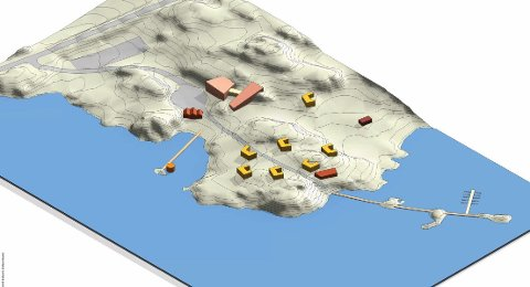 SKISSE: Slik kan utbyggingen av reiselivsanlegget på Rødsanden ved Digermulen bli i følge en mulighetsstudie fra NSW Arkitektur.