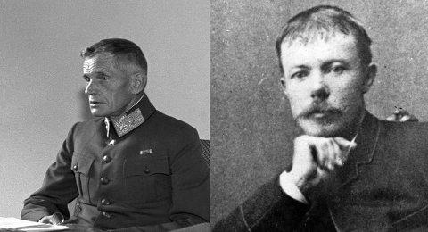 VEINAVN: Generalstabssjef Otto Ruge og forfatter Arne Garborg har begge en vei oppkalt etter seg i Bydel Østensjø.