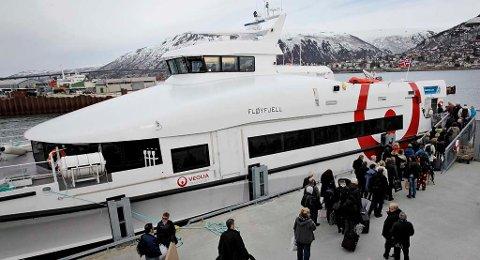 FIKK TRØBBEL: MS «Fløyfjell» er tatt ut av drift inntil videre på grunn av en ødelagt propell.