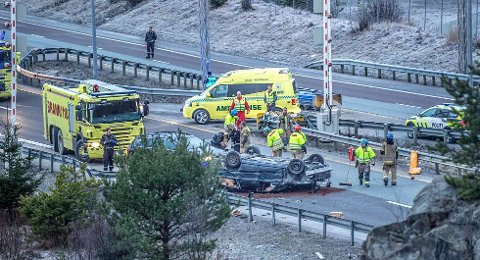 Arkivfoto fra en ulykke i 2014.
