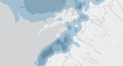 Lørdag ettermiddag kommer bygene for fullt tilbake over Salten og Nordland.