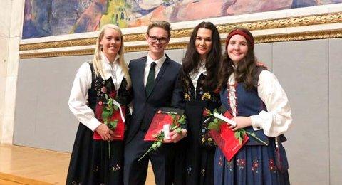 FERDIG UTDANNET: Oleane Stenseth Mathea Rebne (29), Sindre Fløtlien Barli (25), Jenny Marie Granskogen Bjørnstad (29) og Åsne Andreassen Granlund (29) ønsker i hovedsak å jobbe turnus på sykehus når de er ferdig med LIS1.