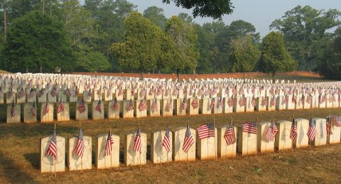 Den amerikanske borgerkrigen hadde mange ofre.