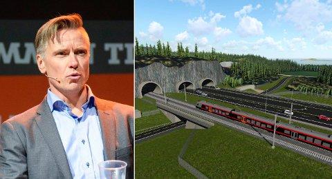 TROR IKKE PÅ 2028: Morten Klokkersveen tror ikke lenger at vei og bane kan stå ferdig i 2028. Men han åpner for at de første arbeidene med forberedende tiltak kan skje neste år.