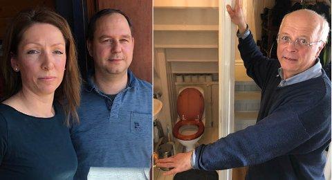 DRAMATISK: – Diana Seget, Jörg Müller og Per Engebretsen fortviler over en dramatisk økning av kloakkavgiften.