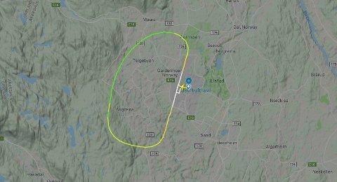 Et SAS-fly på vei fra Oslo til Bodø måtte torsdag ettermiddag gjøre vendereis.