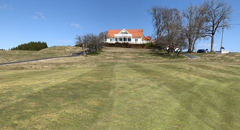 ÅPNER: Hauger Golfklubb åpner for medlemmene allerede skjærtorsdag.