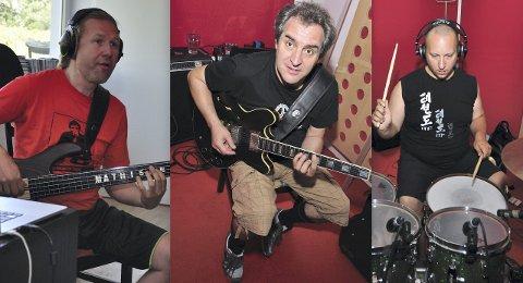 Har gitt ut Cd: Bandleder og bassist Per Mathisen fra Norge (f.v.), gitarist Ruggero Robin fra Italia og trommis Gergo Borlai fra Ungarn. Foto: Privat