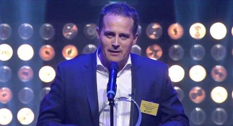 Jesper Melin Ganc-Petersen under tildelingen av prisen som årets entreprenør, EY Entrepreneur Of The Year 2016.