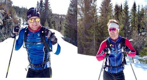SPREKINGER: William Christensen (til h.) og Emil Bråthen tok seg en skikkelig langtur før skiene settes bort for sesongen. Foto: Kenneth Rekvik