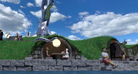 KOMMUNESTYRET: Skjebnen til kunstverket Tre vil bli avgjort i kommunestyret til torsdag.