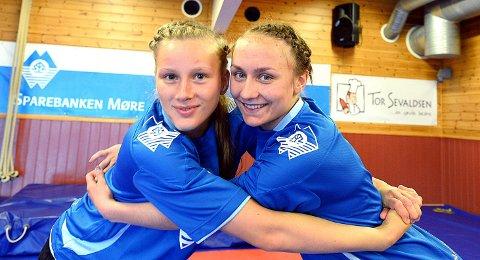 Karoline Løvik (til høyre) vant gull i NM.