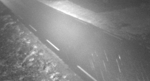 Snøen er i ferd med å legge seg på Trollstigen tirsdag morgen.