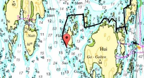 SØK: Letemannskapet har søkt mellom Nattholmen og Hui i Tønsbergfjorden.