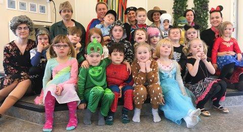Karnevalsfesten i går i Myra barnehage.