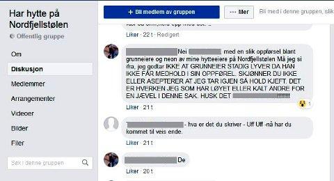 Nettkrangel: Striden har tatt vegen fra rettsalen til hyttefeltet Nordfjellstølens egen Facebookside.
