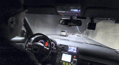 Bedre lys: Når tunnelarbeidene er ferdig, kan bilistene glede seg over bedre lys. Bildet er tatt fra baksetet i en UP-bil.