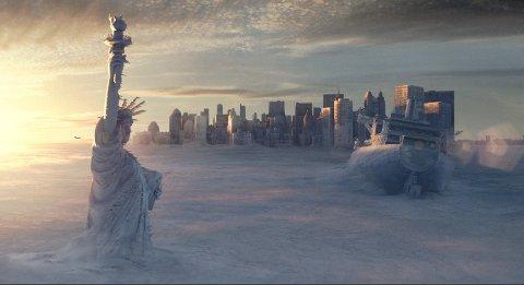 """(Bilde 2) Vinterkatastrofe: Blant de  klassiske katastrofefilmene, er påkostede """"The Day After Tomorrow"""" fortsatt imponerende. Foto: Filmweb / 20th Century Fox  FOTO:  /"""