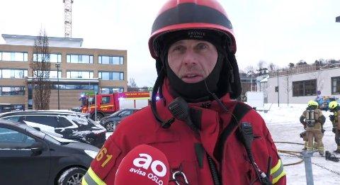 Utrykningsleder John Harald Lillegård i Oslo brann- og redningsetat.