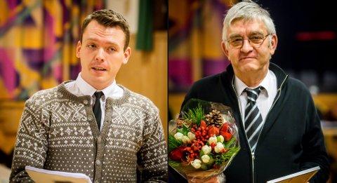 Vegard Eide og Bjørn Olav Benjaminsen fekk torsdag Lindås kommune sin kulturpris.