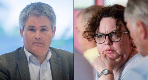 Øyvind Oddekalv (Meland) og Nina Bognøy (Lindås) med innlegg om kvifor Alver Arbeidarparti seier ja til byvekstavtalen.