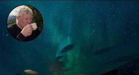 Ove Bjelland, som har tatt dette bildet, sier han har fått flere tilbakemeldinger av folk som ser et romvesen. Gjør du?