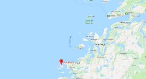 Åtte nautiske mil nordvest for Støtt sank båten.