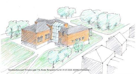 Tegning: Boarch arkitekter
