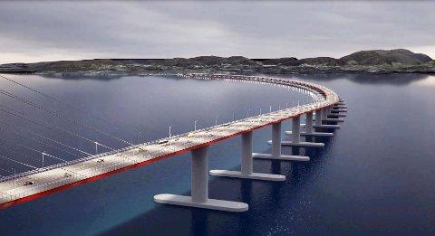 En av mange skisser av broen over Bjørnefjorden.